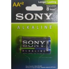 PILHA  AA  ALCALINA SONY cartela com 2 pilhas