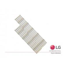 KIT BARRAMENTO LED LG 49LB5500 49LB6200 49LF5100 49LF5500 49LF6200 49LF6400 AGF78402201 NOVO - ORIGINAL